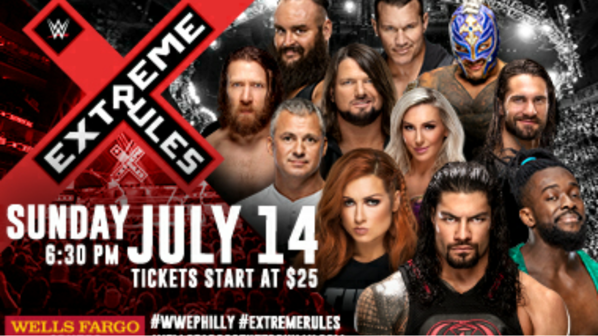 Wells Fargo Center advertising matches for 2019 ExtremeRules